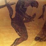 نقش يوناني لرجل يستمني